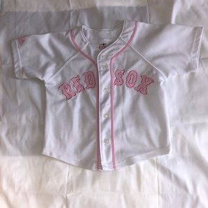 Adorable Child's Pink Red Sox Jersey